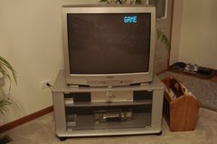 SYLVANIA 32 INCH COLOR TELEVISION AND STAND in Chicago, Illinois
