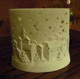 Crescent Moon Christmas - Candle Cover in Chicago, Illinois