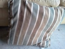 blue/brown striped pillows in Eglin AFB, Florida