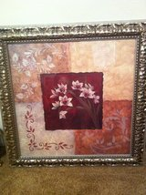 Framed floral print.  REDUCED in Cleveland, Texas