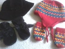 Toddler Girls Hat & Mitten Set, Lands End Mittens in Bolingbrook, Illinois