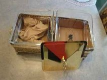 2 bin gold plated food server/warmer in Spring, Texas